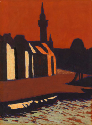 The Commercial Port of Ostend, 1926 Gouache and watercolour on paper, 349 x 258 mm