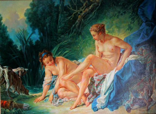 "Alexander Petrovich Botvinov. A Copy Of Francois Boucher's ""Diana Bathing"""