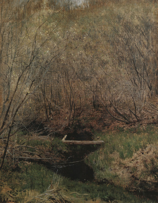 Isaac Levitan. Spring in the woods
