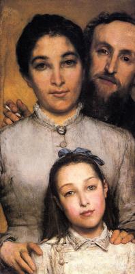 Лоуренс Альма-Тадема. Портрет Жюля Далу с женой и дочерью