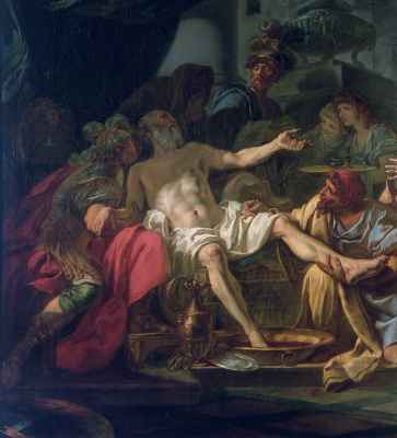 Jacques-Louis David. The Death Of Seneca. Fragment II