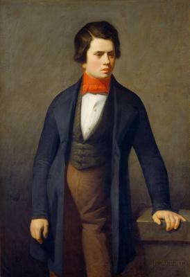 Jean-François Millet. Portrait of a young man. Leconte de lille