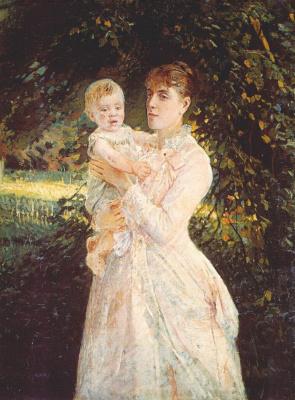 Nikolai Nikolaevich Ge. Portrait of Catherine Gay, daughter of the artist, son