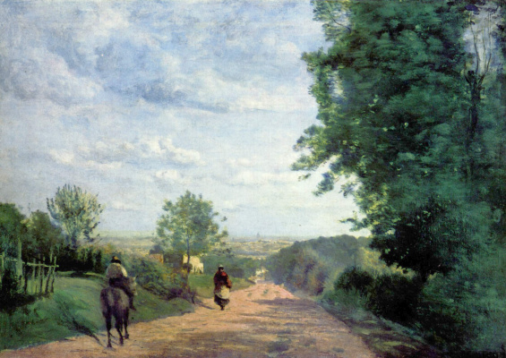 Camille Corot. Road to Sevres