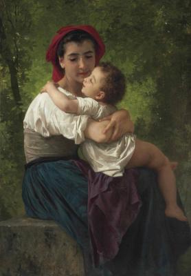 Адольф Бугро Вильям. Ласка малыша. 1878