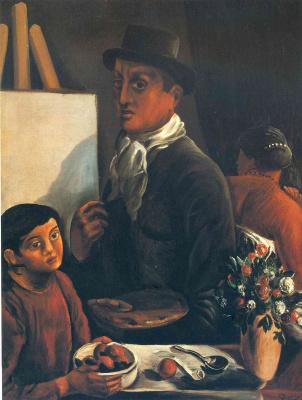Andre Derain. The artist in his Studio