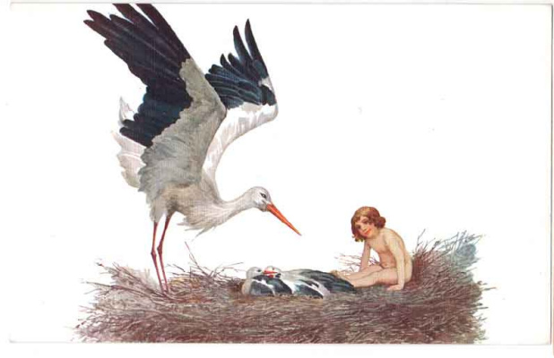 Sergey Sergeevich Solomko. Blessed be the house where a stork had built a nest