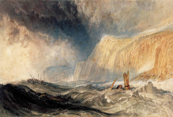 Joseph Mallord William Turner. The shipwreck off Hastings