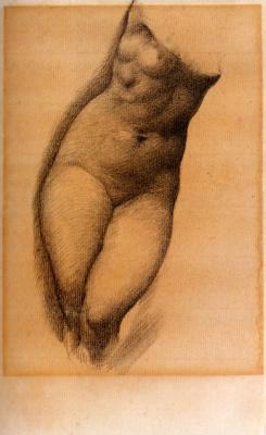 Edward Coley Burne-Jones. Sketch of a female torso