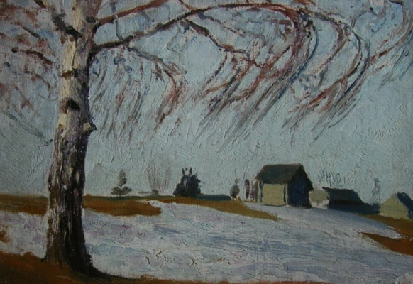 Arkady Alexandrovich Rylov. Winter. Birch