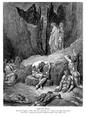 "Paul Gustave Dore. Illustration for the ""Divine Comedy"""
