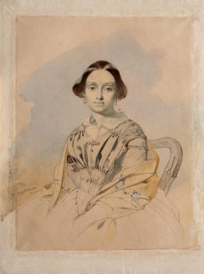 Taras Grigorievich Shevchenko. Portrait Of Tatyana Panteleimonovna Katerynych