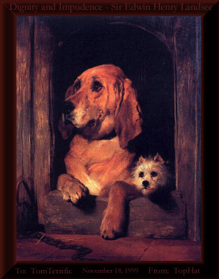 Edwin Henry Landseer. Two dogs