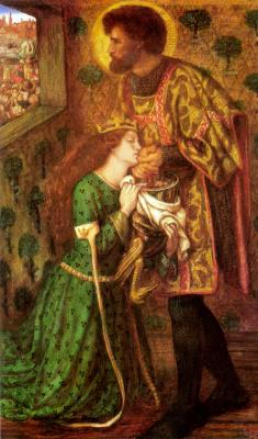 Данте Габриэль Россетти. Святой Георгий и принцесса Сабра