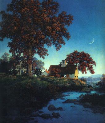 Maxfield Parrish. New moon