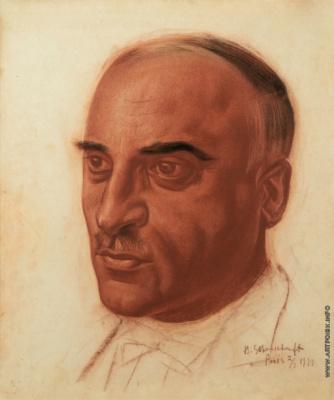 Василий Иванович Шухаев. Портрет Гаврила Григорьевича Пайчадзе. 1933