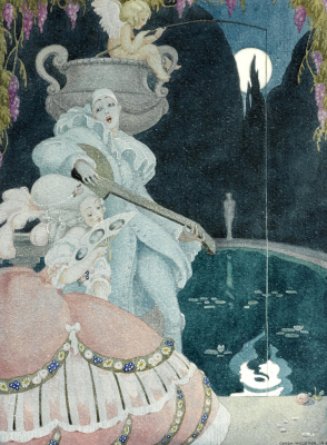 Gerda Wegener. Socialite and Pierrot