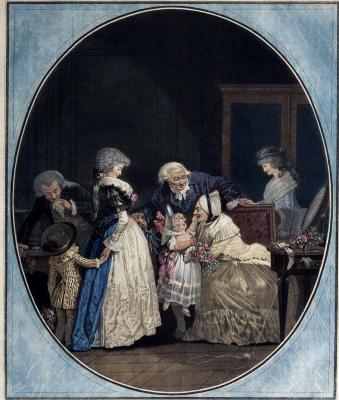 Филибер-Луи Дебюкур. Поздравление бабушки с именинами