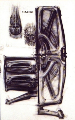 Hans Rudolph Giger. Sketch for the office