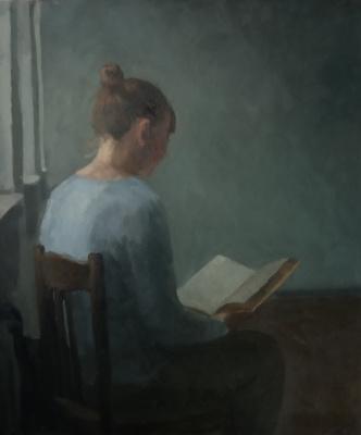 Anna Glazunova. Near the window