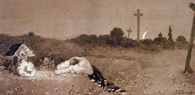 Wilhelm Kotarbinsky. At the grave