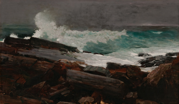 Winslow Homer. The wreckage after the storm