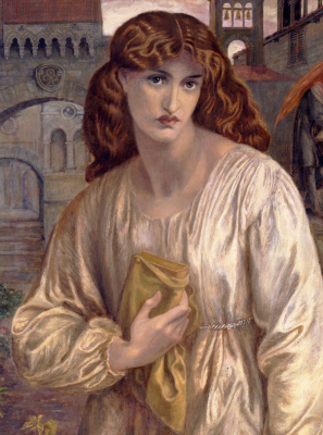 Dante Gabriel Rossetti. The Salutation Of Beatrice. Fragment