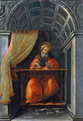 Sandro Botticelli. St. Augustine in the cell