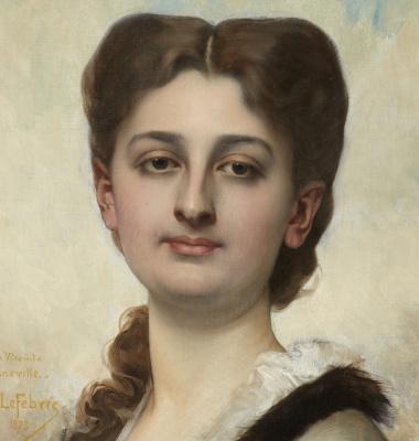 Жюль Жозеф Лефевр. Портрет дамы. 1873 .  деталь