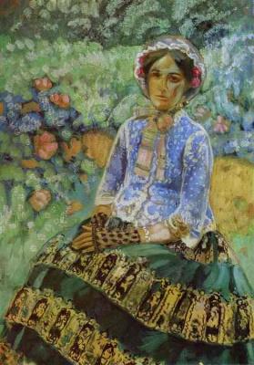 Виктор Эльпидифорович Борисов-Мусатов. Женщина в голубом платье