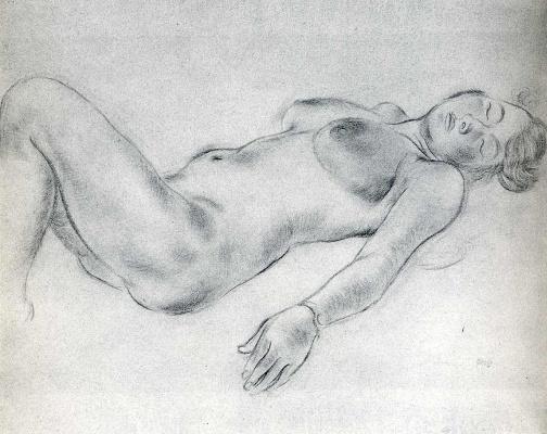 George Grosz. Reclining Nude woman