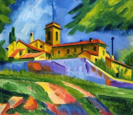 Макс Пехштейн. Итальянский монастырь Сан-Джиминьяно