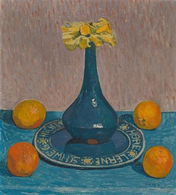 Куно Амье. Натюрморт с нарциссами и апельсинами