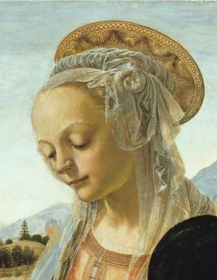 Андреа дель Вероккьо. Madonna and Child. Fragment