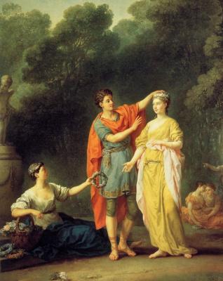 Жозеф-Мари Вьен. Молодой грек, венчающий его любимую