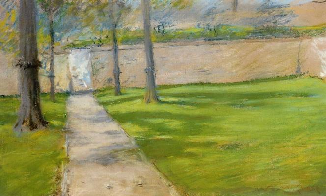 William Merritt Chase. Garden wall