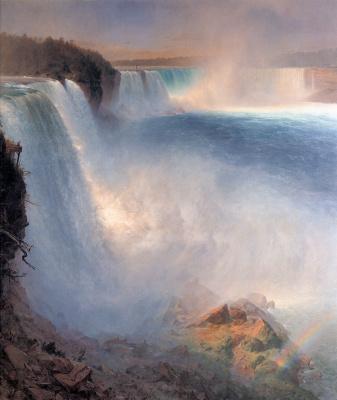 Frederick Edwin Church. Niagara falls from the American side