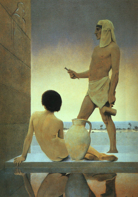 Maxfield Parrish. Egyptian sculptor