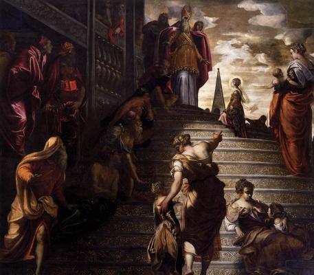Jacopo Tintoretto. In the temple