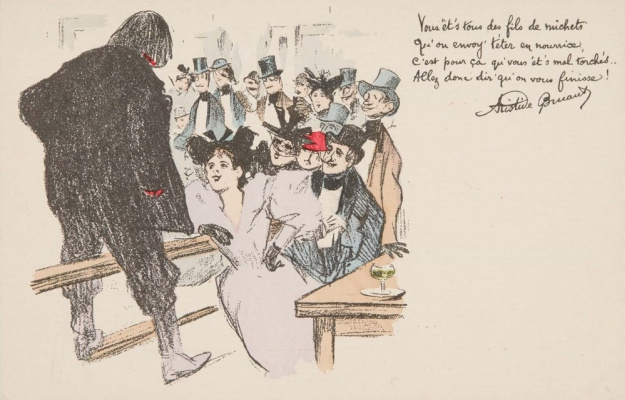 Theophile-Alexander Steinlen. Distributor leaflets in the bar