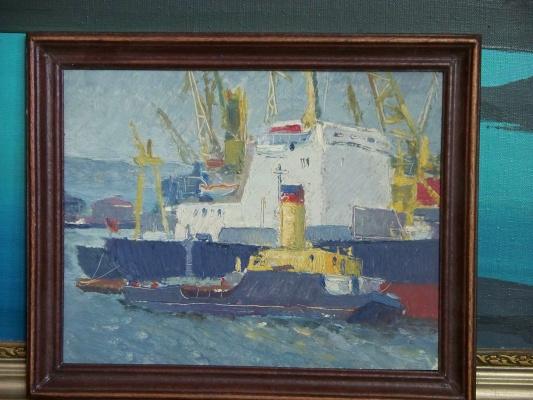 Svyatoslav Petrovich Skorobogatov. Working day at the port