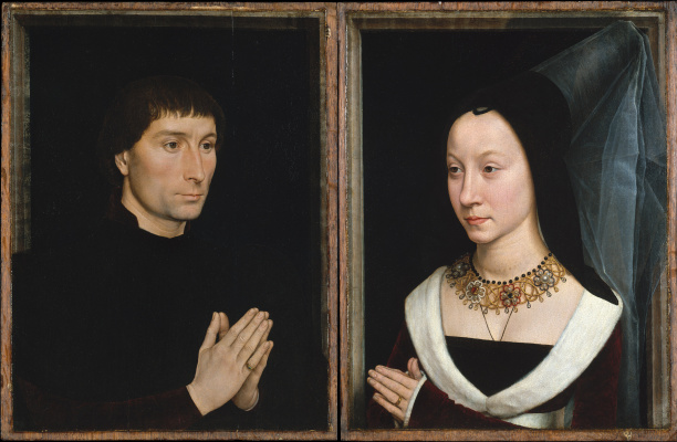 Hans Memling. The portraits of Tommaso Portinari and his wife Mary