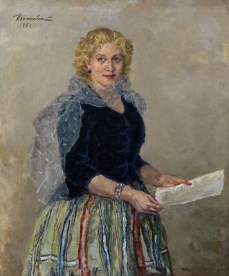 Petr Petrovich Konchalovsky. Portrait Of Lyubov Orlova
