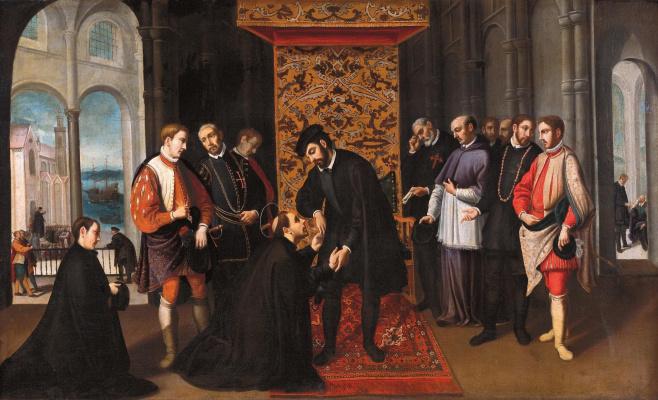 Andre Reinosa. St. Francis Xavier says goodbye to king joão III