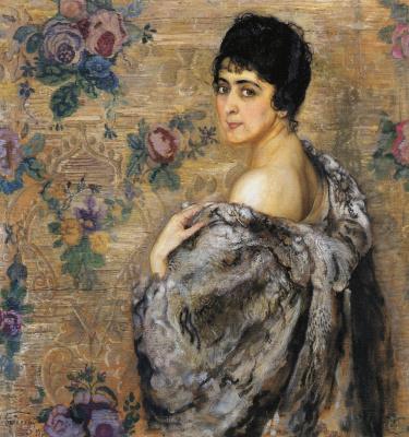 Исаак Израилевич Бродский. Портрет 3.С. Штильман. 1916