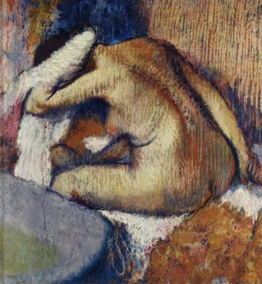 Edgar Degas. Woman drying herself after washing