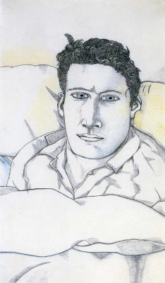 Lucien Freud. Man in bed