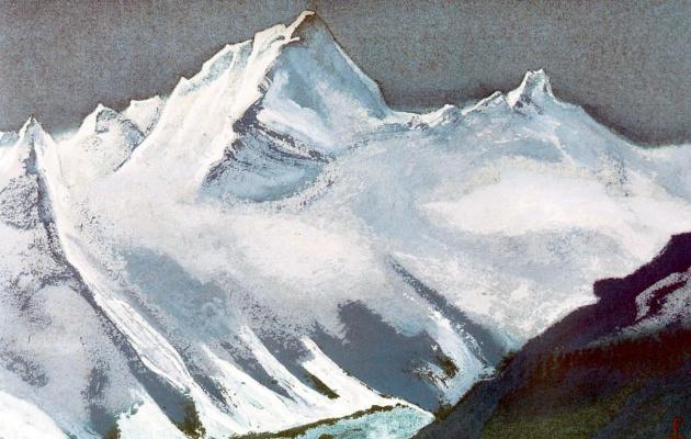 Nicholas Roerich. The Himalayas (Black snow top)