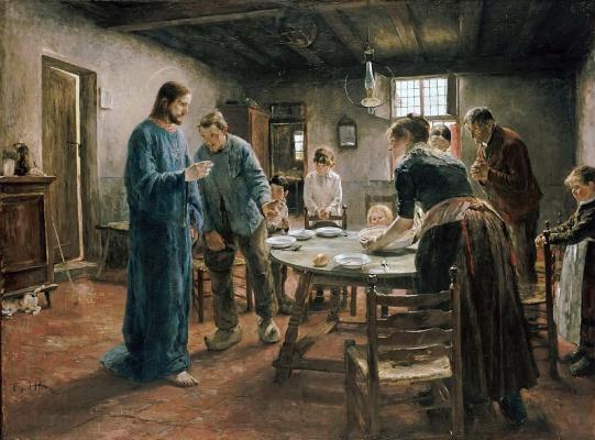 Фриц фон Уде. Молитва перед обедом