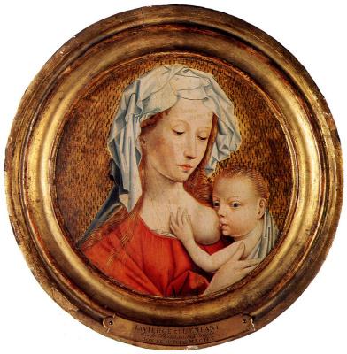 Робер Кампен. Мадонна с Младенцем. 1430
